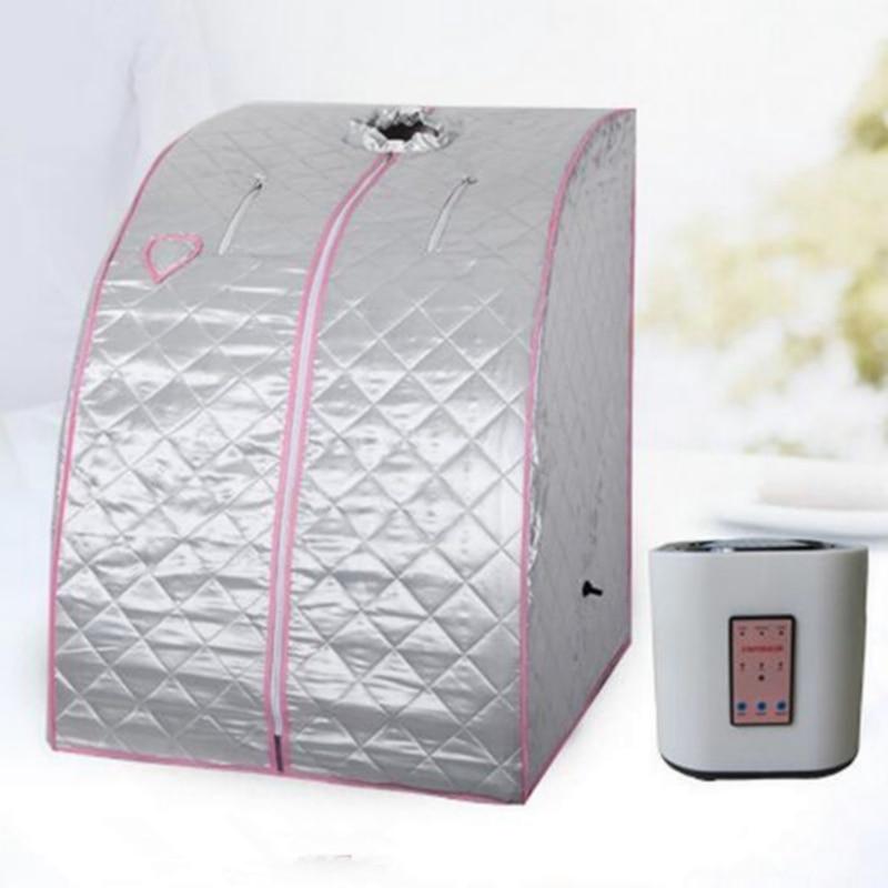 l teraputico porttil dobrvel casa sala de sauna a vapor para cobrir a cabea mquina de