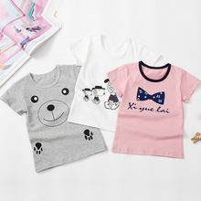Kids Tops Summer Children Boys Girls Short-sleeve Tshirt Cartoon Toddler Baby Clothes Cotton Girl Clothing T-shirts Fashion high quality unisex baby boys girls polo shirts children summer short sleeve cotton striped tshirt
