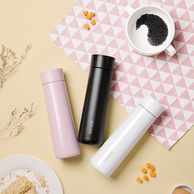 geekoplanet.com - Smart Vacuum Stainless Steel Thermos Travel Mug with LED Temperature Display