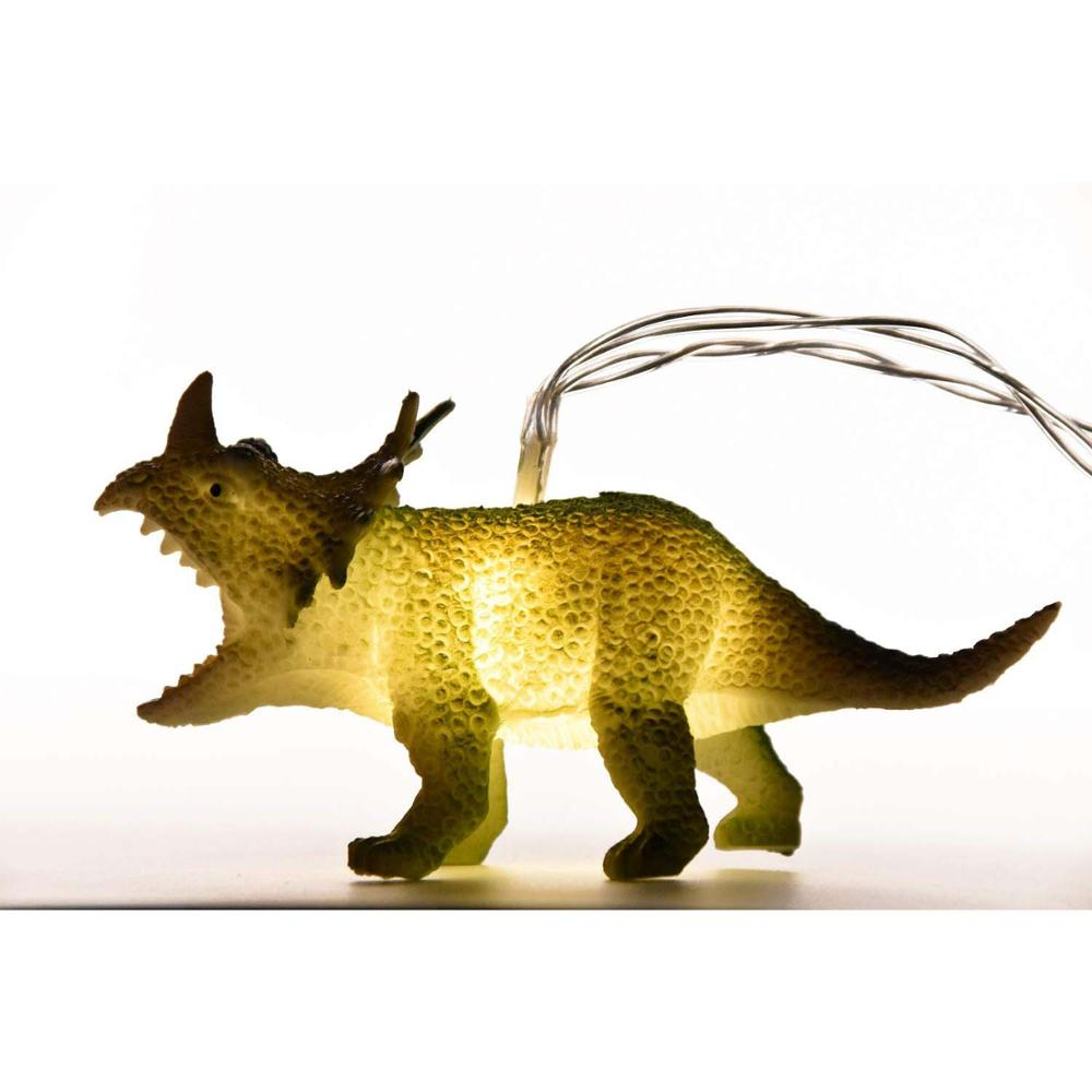 Hoolight String Lights With Bright Dinosaurs Realistic Looking Dinosaurs Light 8LEDS Children Gift Plastic Toy Super Fun Dino Li