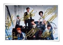 BTS foto autografada Verão Viagem assinado imagem grupo foto 10*15 cm 4*6 polegadas freeshipping new coreano 09.2016 02