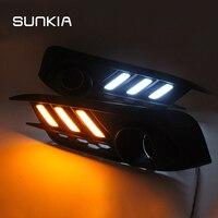 2Pcs Set SUNKIA Car LED Daytime Running Light DRL For Honda Civic 10th 2016 2017 2018