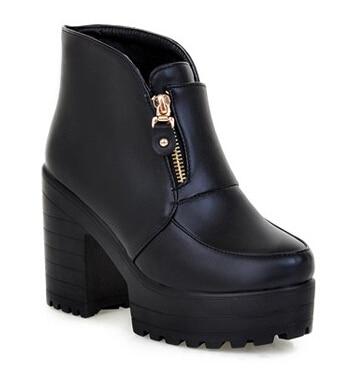 Popular Chunky Heel Platform Boots-Buy Cheap Chunky Heel Platform