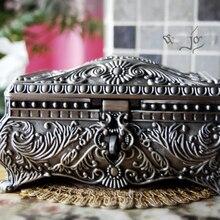 Классический металлический сплав олова Европейский Готический Королева Принцесса Ювелирные изделия на память сувенир Коробка Чехол 2114