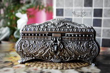 classic tin alloy metal European Gothic queen princess jewelry keepsake souvenir box case 2114