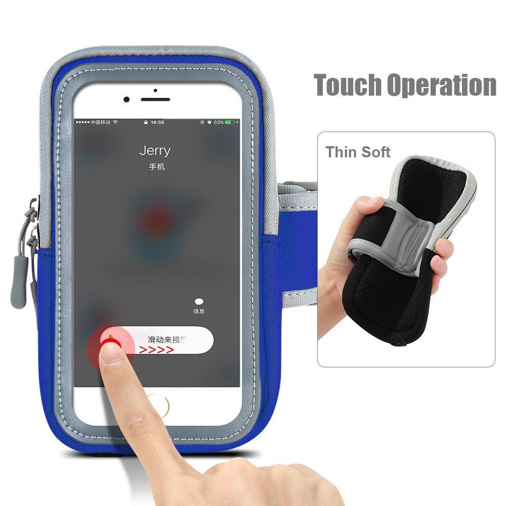 Running Bag Arm Wrist Band Hand Sport Mobile Phone Case For Huawei Honor 8 P8/P9/P10/Lite Hand Accessory Waterproof Wallet Pouch pochette étanche pour téléphone