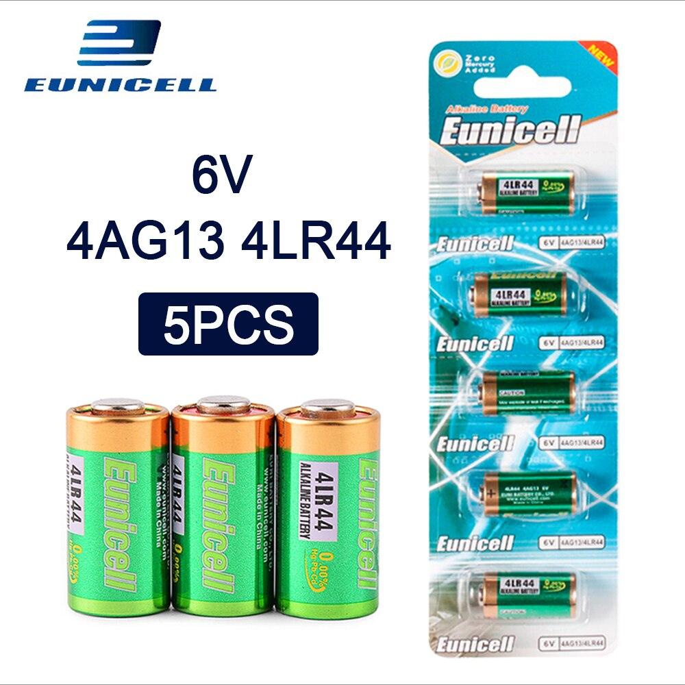 5 pces = 1 cartão 6 v 145 mah 4lr44 bateria alcalina para células relógio remoto do carro a544v 4034px px28a l1325 544 4a76 4ag13 baterias secas