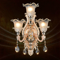 Free Shipping Alloy Luxury Crystal Light E14 LED Wall Lamp Bedroom Bedside Lamp Aisle Modern Home Wall Lamp AC 100% Guaranteed