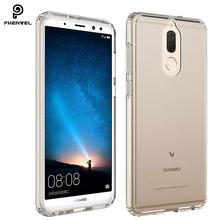Phenvel crystal bumper cover for huawei mate 10 lite TPU +PC impact protective case nova 2i honor 9i Transparent
