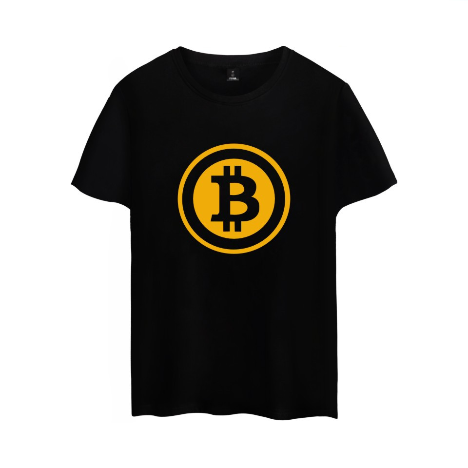 bitcoin tee shirt homme de marque short sleeve summer. Black Bedroom Furniture Sets. Home Design Ideas