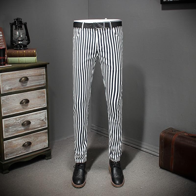 2018 New Stripe Men Dress Pants Suit Trousers Men Classic Suit Pant Pantalon De Travail Pour Homme Office Trousers-in Suit Pants from Men's Clothing    1