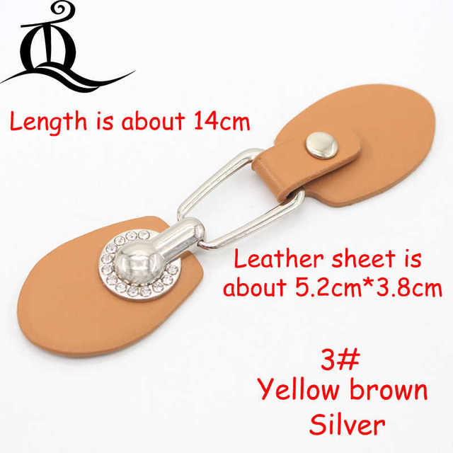 1pair/lot Fashion metal Coffee/brown Ox Horn Leather Toggle Buttons For Coat Jacket Black Brown DIY Garment Accessory Hs4