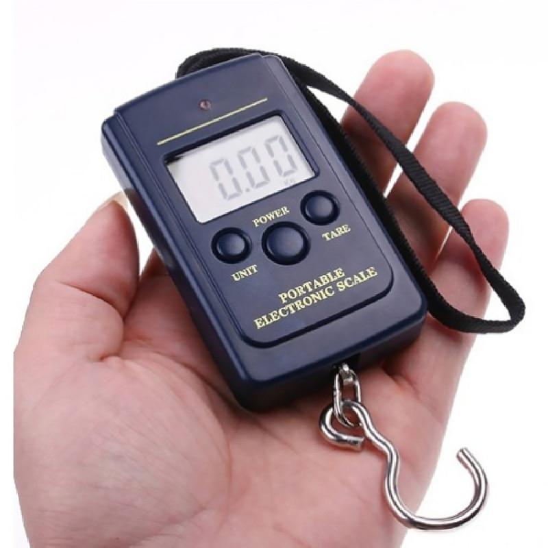 Карманный черный ЖК-дисплей рыбалка Масштаб Мини Электронные весы цифровые весы 0,01 кг-40 кг висит масштаба