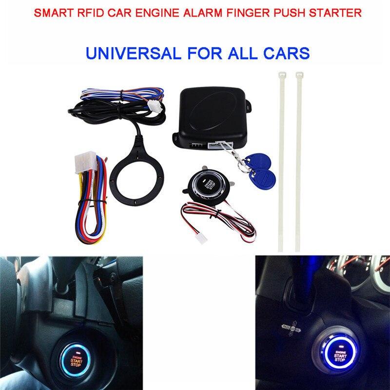Bouton poussoir de démarrage du moteur de voiture serrure du moteur RFID système d'allumage de démarrage sans clé