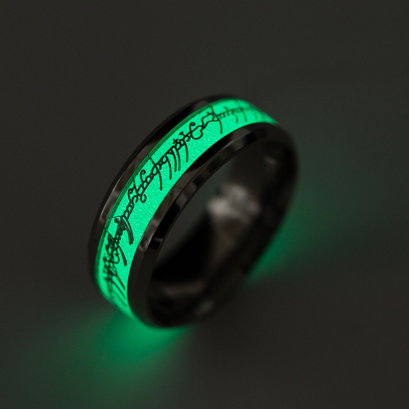TOFOL Men Women Luminous Ring The Lord Of The Ring The