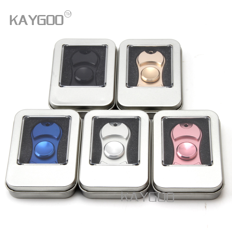 KAYGOO EDC Fidget Spinner Tri spinner Hand Spinner Aluminum Alloy Metal Fidget Toy For Autism and
