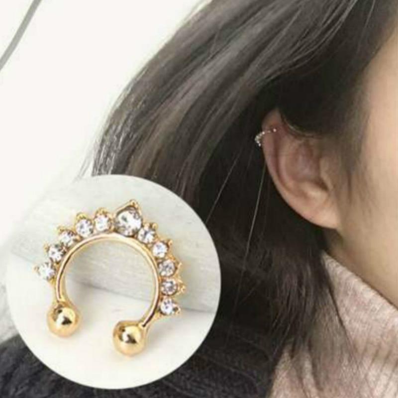 Fake Nose Ring Piercing Septum Body-Jewelry Crystal Titanium Drop Sell 1pcs Temperament
