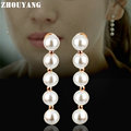 Concise Imitation Pearl  Rose Gold/Platinum Plated Earrings For Women Wedding Jewelry Wholesale Top Quality ZYE249 ZYE576