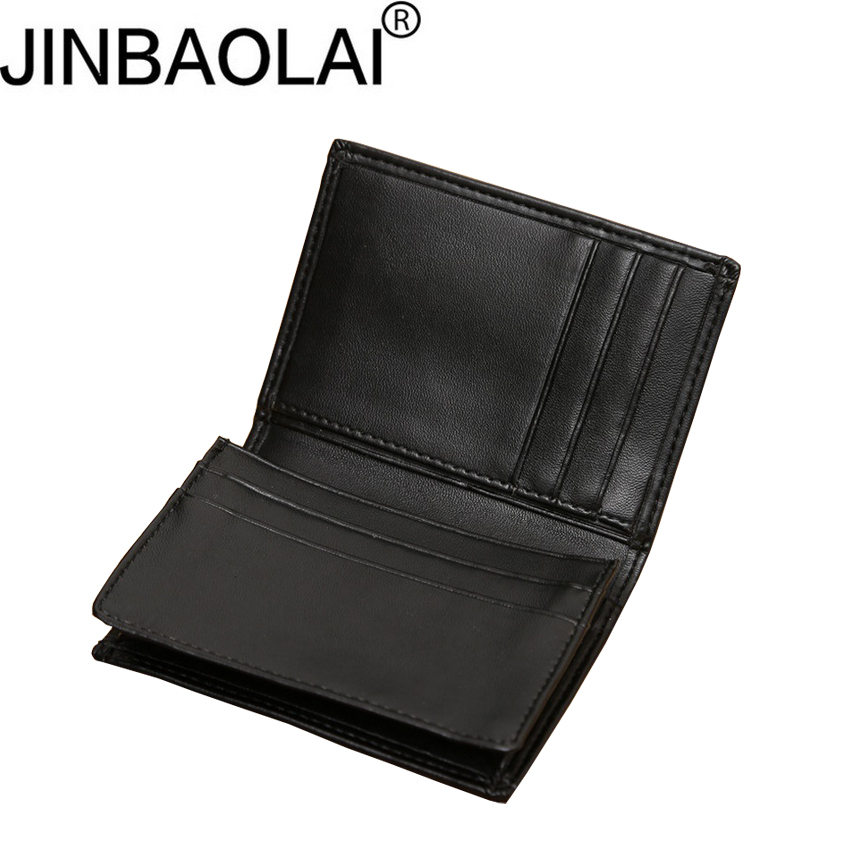 JINBAOLAI Men's business card holder Large capacity wallet  for men Ultra thin purse with credit card holder D3154-8