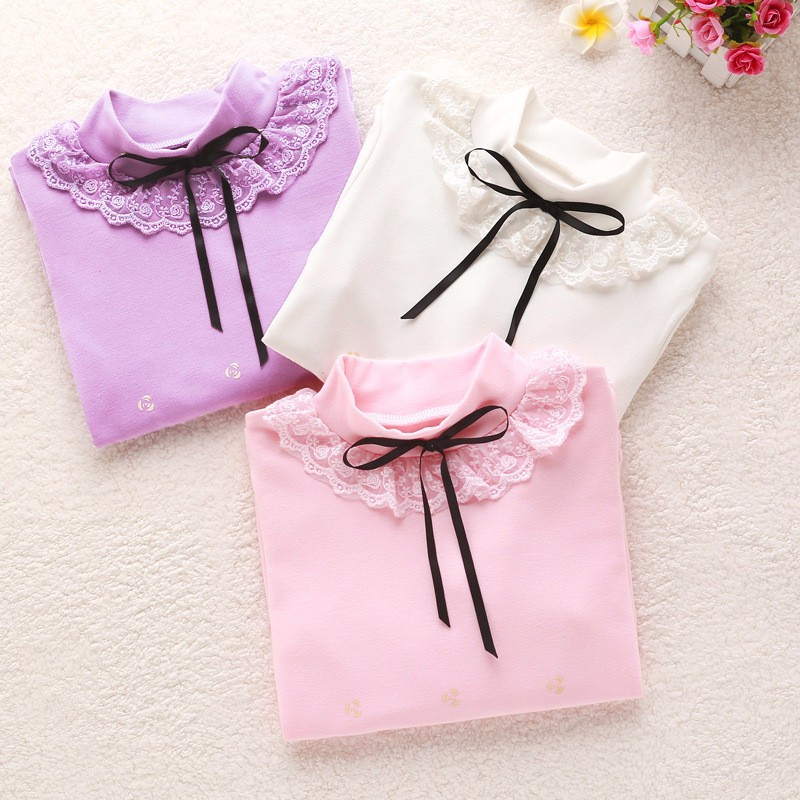 Girls Lace Bow Sweater (3)