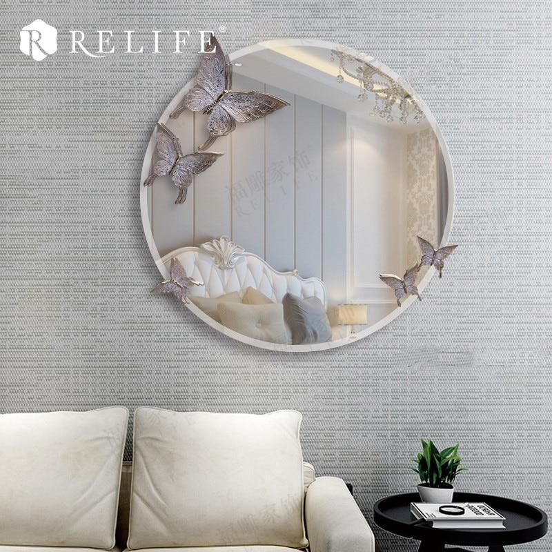 Promotional Acrylic Round Wall Mirror 3D Anti fog Mirrors for Bathroom Home Decor