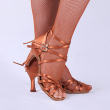 Salsa Dance Shoes Party Ballroom Latin Dance Shoes Modern Women Shoe Fitness Breathable Dancing Sneakers Brown