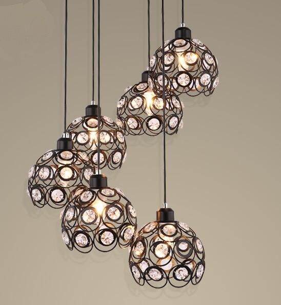 Nordic Industrial single head lamps  NEW Restaurant bar simple balcony stairs pendant light Cafe creative personality  2017 ZCL nordic retro creative restaurant bar pendant lamps iron simple corridor balcony personalized clothing pendant lamps za zl512