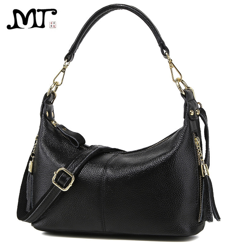 купить MJ Bag Ladies Genuine Leather Messenger Bags Real Leather Women Tassel Handbag Female Small Crossbody Shoulder Bag for Girls по цене 2027.01 рублей
