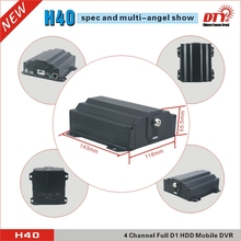 DTY H40GW, ce fcc rohs free client software h.264 cctv dvr, hdd mdvr with wifi gps