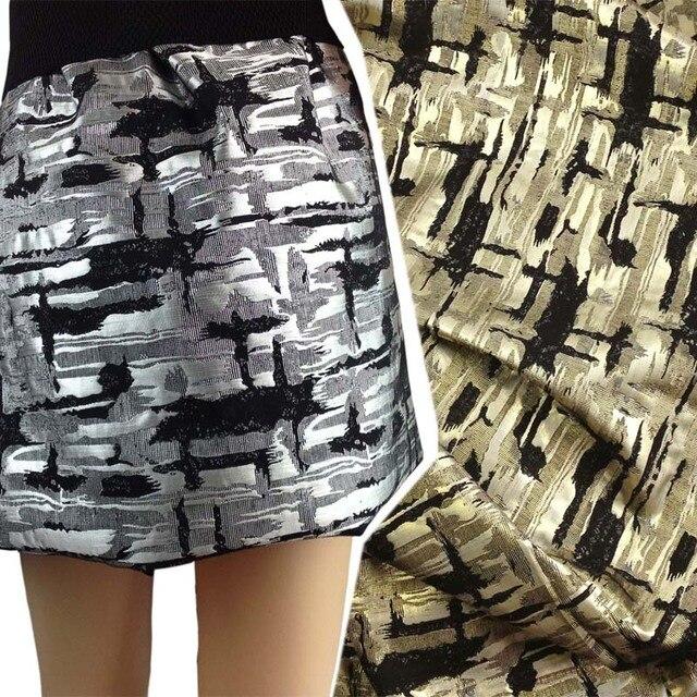 1 ярд серебряный металлический крест из жаккардовой парчи для платья, Wdith150cm, юбка Швейные тканевый материал ткань Tecido ткани