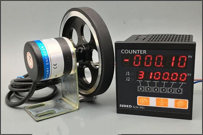 Digital display length counter Intelligent photoelectric sensor length meter SCN-P61 Y intelligent counter meter length meter meter lap length tester and reversible h7jc2 6e2r