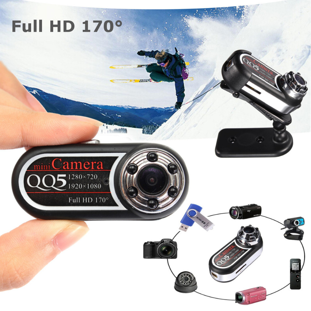 qq5 camera espion full hd 1080p 720p night vision dvr mini camera camcorder 12mp webcam 170 wide. Black Bedroom Furniture Sets. Home Design Ideas