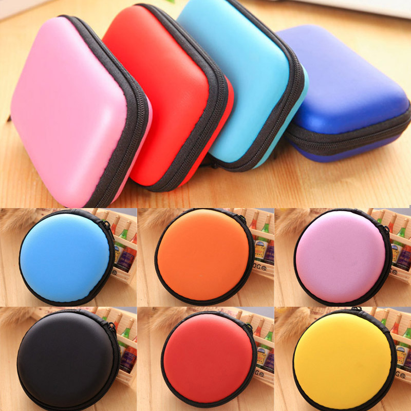 Storage Hard Case Waterproof Key Coin Bags Holder Box Travel Earphone Bag SD Card Cable Earbuds Headphones