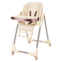 Multifunctional Baby Feeding Chair Portable Infant Dining Table Adjustable Kids Table Chairs Highchair Booster Seat Easy Folding