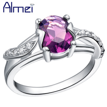 85136ffb6c28 Almei 5% de descuento Cristal de lujo boda Azul Rojo anillo mujeres señoras  Anillos púrpura piedra zirconia joyería Anillos Alibaba-Express j288