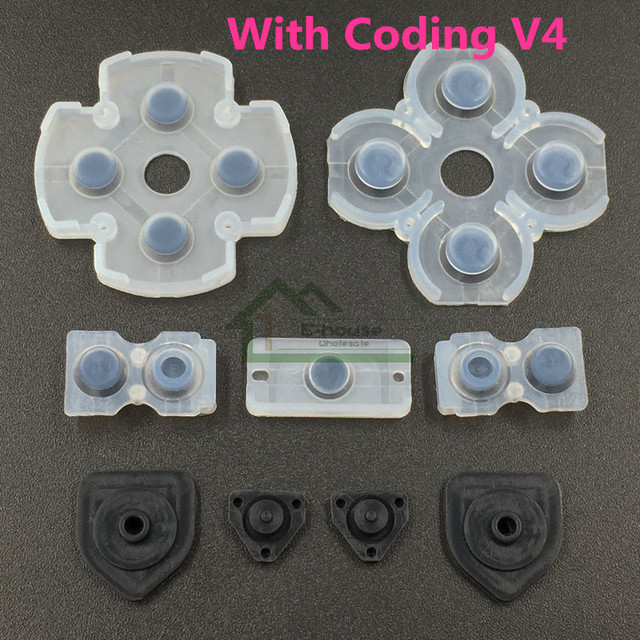 200 set For PS4 Controller Dualshock 4 Buttons Repair Conductive Rubber D Pads Button Conducting rubber Replacement with Coding