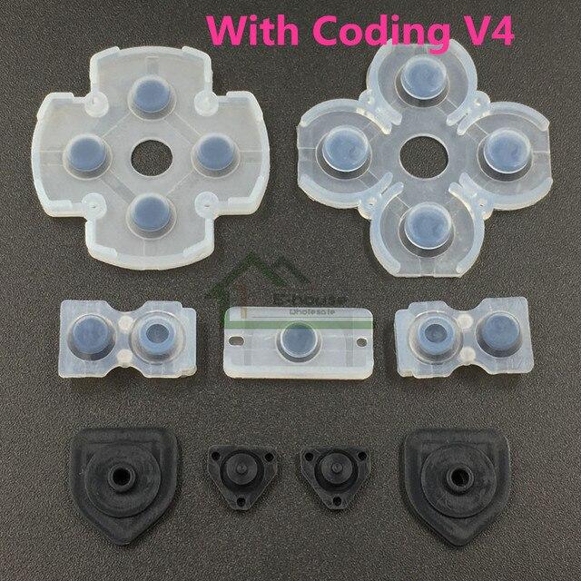 200 set Per PS4 Controller Dualshock 4 Bottoni Riparazione Gomma Conduttiva D Pad Button Conduzione in gomma di Ricambio con Codifica
