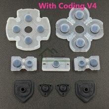 Juego de 200 para controlador PS4 Dualshock 4 botones de reparación almohadillas de goma conductoras D reemplazo de goma conductora con codificación