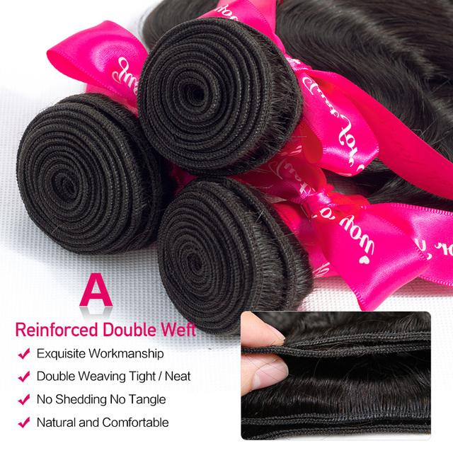 Beautiful Princess Brazilian Hair Weave Bundles Double Weft Body Wave Human Hair Bundles Natural Color Remy Hair