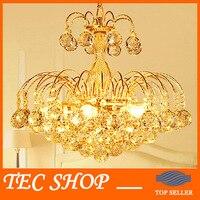 JH 110V 220V Luxury Gold Crystal Chandelier Modern K9 LED Living Room Light Lustres De Cristal