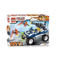 Enlighten 356Pcs City Police Cruiser SUV Car Styling Model Building Kits Minifigure font b Blocks b