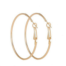 Earrings Ladies 2019 New Fashion Popular Big Circle Simple Metal Party Wear Jewelry