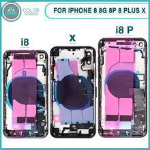 New Full Housing Case For iphone 8 8G 8P 8 Plus X Battery Ba