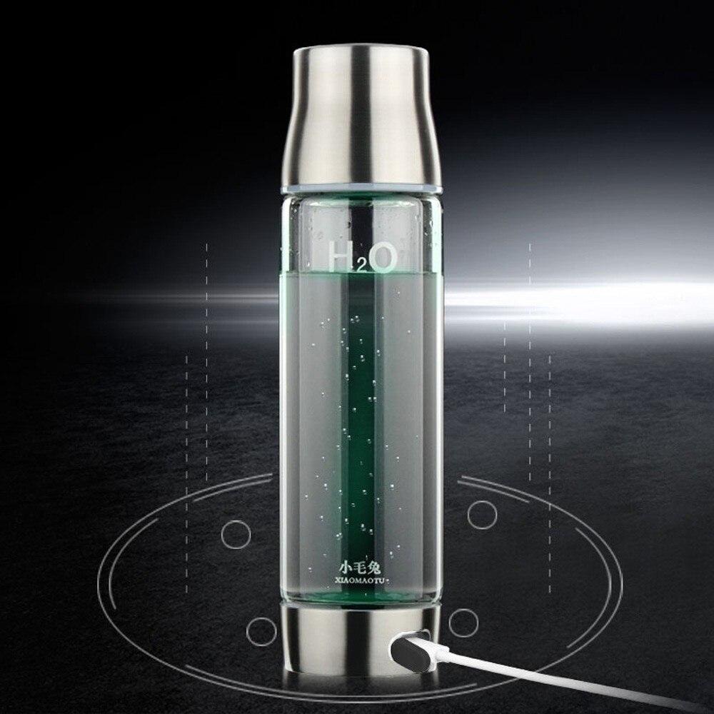 XIAOMAOTU 450/550 ملليلتر مولد الهيدروجين المياه زجاجة زجاج بوروسيليليك مرتفع الماء المؤين زجاجة مكتب الأعمال زجاجة BPA خالية-في زجاجات مياه من المنزل والحديقة على  مجموعة 1