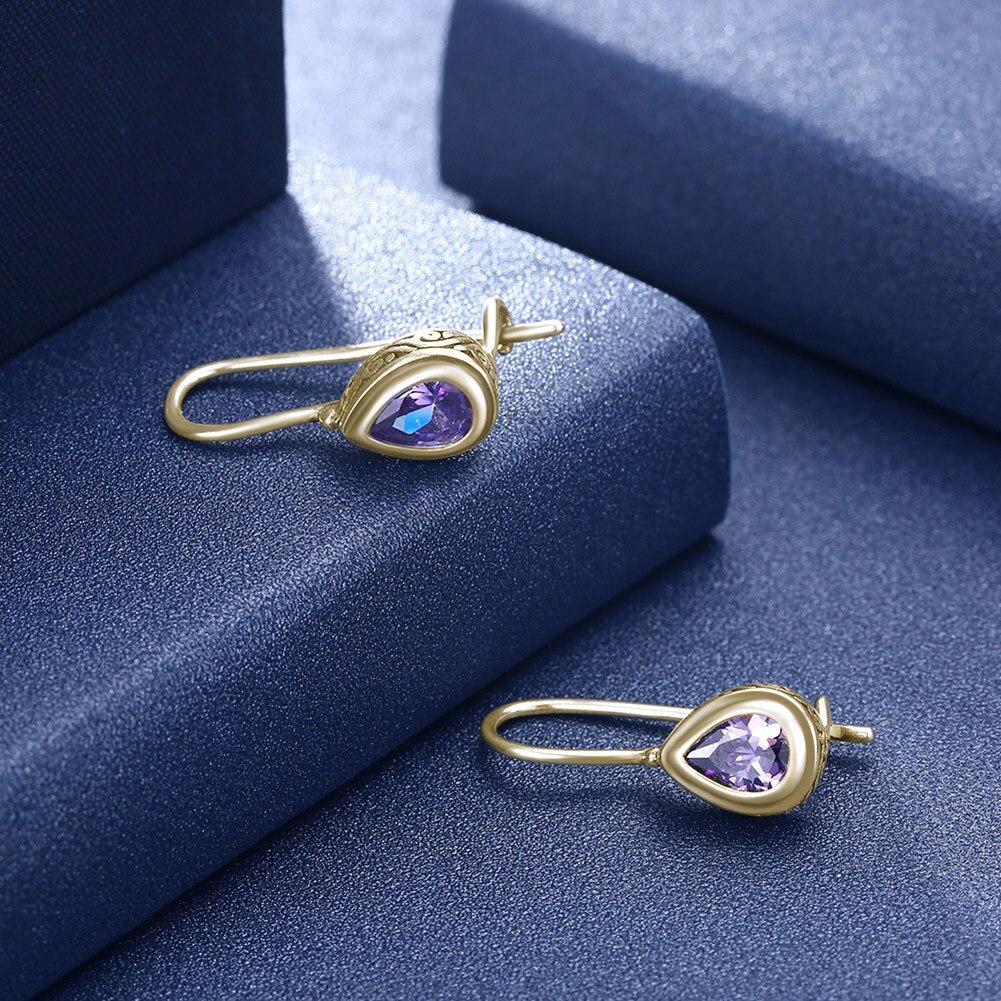 Sterling Silver 925 earrings wholesale, Ladies Drop Crystal Vintage