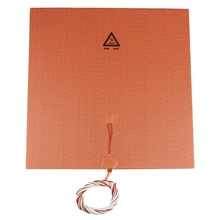 3D Printer Accessories 300*300Mm 220V 300W Imported Hot Bed Silicone Pad With Adhesive High Temperature For Cr-10
