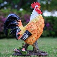 Петух и курица украшения моделирования животного смола скульптуры ремесленничества гостиная Бытовые аксессуары