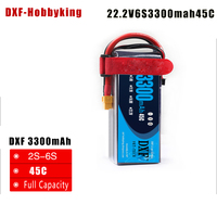 2017 DXF 6S Lipo Battery 6S 22.2V 3300MAH 45C MAX 55C T/XT60 LiPo RC Battery For Rc Helicopter Car Boat 6S