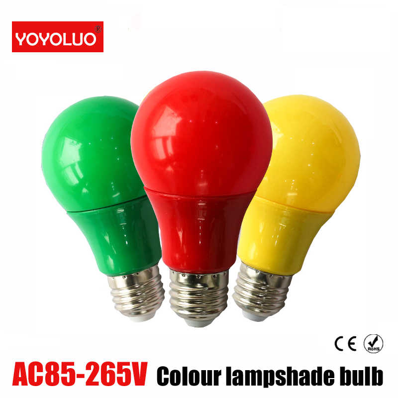 new Colorful Globe Light Bulb Led Bar Light 5W 7W 9W Red Blue Green Yellow Pink Lampara Led For Bar KTV Party Lighting