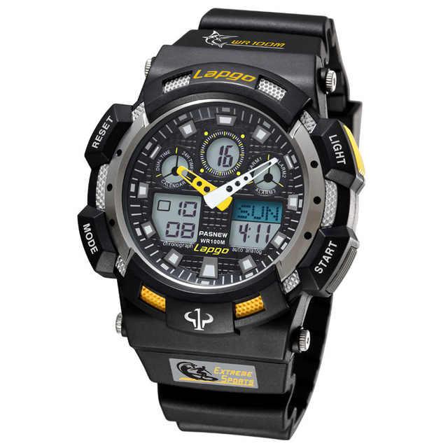 100M reloj de buceo impermeable para hombres relojes deportivos nuevo reloj de pulsera Digital militar analógico reloj Masculino Hodinky